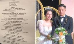 Thực đơn đám cưới của cầu thủ Bùi Tiến Dũng và Khánh Linh ở Hà Nội