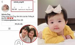 Sau Hà Hồ, đến lượt Ông Cao Thắng - Đông Nhi lập Instagram cho con gái cưng Winnie