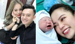 Tình cũ diễn viên Anh Dũng - hot girl Bạch Dương bất ngờ đăng ảnh sinh con đầu lòng