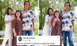 Nam Thư khoe ảnh gia đình, fan trêu ngay: 'Phải Thư cao giống ba là đi làm người mẫu được rồi'