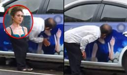 Cư dân mạng bức xúc trước clip người đàn ông làm hành động nhạy cảm lên ảnh quảng cáo của Mỹ Tâm
