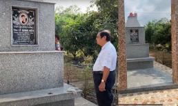 Phần mộ của cố ca sĩ Vân Quang Long được xây dựng hoàn thiện, chờ ngày nhận tro cốt