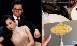 Hé lộ thiệp mời 'xinh lung linh' và thời gian tổ chức đám cưới của Á hậu Thúy An ở TP.HCM