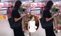 """Team qua đường bắt gặp khoảnh khắc Tăng Thanh Hà đi siêu thị: Nhan sắc ngoài đời của """"ngọc nữ"""" có xuất thần?"""