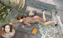 'Bà mối' Cát Tường đăng ảnh ngã sấp mặt trầy xước chân, đồng nghiệp thân thiết nhìn hình đều thắc mắc