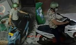 Tên trộm hành sự nhẹ nhàng không tưởng, 15 phút cuỗm ngay 2 xe máy ở 2 nhà khác nhau