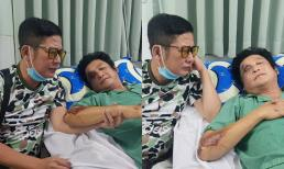 Tấn Beo bất ngờ chia sẻ hình ảnh xót xa của nghệ sĩ Trọng Phúc bị tai nạn, chấn thương mặt và vai