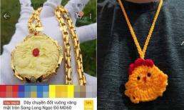 Mua dây chuyền đốt vuông vàng mặt tròn trên mạng, nam thanh niên nhận lại túi đựng tỏi hình con gà