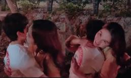 Hậu gây tranh cãi khi khoá môi fan nhí, Ngọc Trinh tiếp tục hôn bé trai 8 tuổi nhưng lần này lại khéo léo hơn