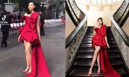 Đôi chân dài của Hoa hậu Đỗ Thị Hà qua ống kính camera thường như thế nào?