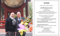 Thông tin về tang lễ của NSND Trung Kiên - bố nhạc sĩ Quốc Trung