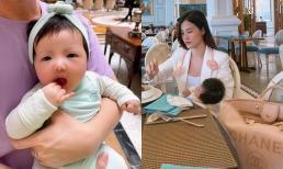 Khoảnh khắc đáng yêu của tiểu công chúa nhà Đông Nhi được bố mẹ đưa đi du lịch Phú Quốc