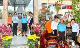 Tròn 49 ngày mất Vân Quang Long, Dương Ngọc Thái về tận quê Đồng Tháp thăm mộ cố ca sĩ