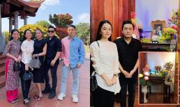 Dàn sao Vbiz đến nhà thờ Tổ 100 tỷ của NSƯT Hoài Linh viếng thăm cố nghệ sĩ Chí Tài đầu năm mới