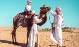 Vợ chồng Khánh Thi - Phan Hiển 'lạc vào sa mạc tình yêu' trong bộ ảnh mới