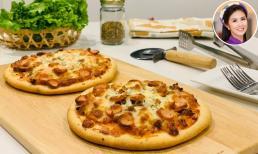 Hoa hậu Ngọc Hân chia sẻ công thức làm Pizza tại nhà