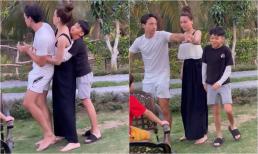 Hồ Ngọc Hà cùng Kim Lý và Subeo nối đuôi 'xe lửa' nhảy cực hài, fan thích thú vì khoảnh khắc quá đáng yêu
