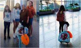 Thúy Nga rơi nước mắt khi nhìn mẹ ruột và con gái phải dắt díu nhau bay từ Việt Nam qua Mỹ để gặp mình