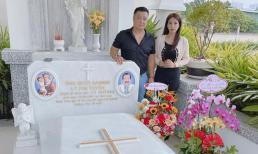 Lý Hùng cùng gia đình đến thăm mộ ba - NSND Lý Huỳnh