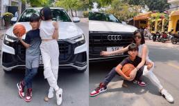 Quý tử nhà Lệ Quyên: Được mẹ chở đi chơi trên siêu xe Audi, chân mang Air Jordan đúng chuẩn rich kid