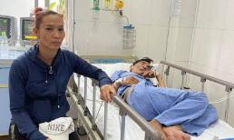 Vợ nghệ sĩ Thương Tín đã lên tới bệnh viện, túc trực bên giường bệnh của chồng
