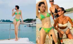 Thu Minh và Bằng Lăng diện bikini khoe vóc dáng bốc lửa tại Singapore