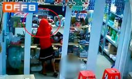 Người phụ nữ dẫn bé gái vào cửa hàng tạp hóa, dàn cảnh đánh lạc hướng rồi trộm tiền