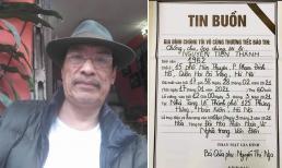 Thông tin tang lễ của cố nghệ sĩ Văn Thành 'Chuyện phố phường'