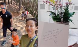 Thảo Trang khoe tấm thiệp do bạn trai Tây viết nhờ google dịch