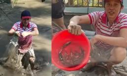 Hoài Linh vất vả giăng lưới bắt cá: 'Kiếm được bữa cơm khó khăn quá'