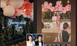 Thanh Tú 'dìm hàng' chồng đại gia khi đi đôi giày cao gót chục phân trong tiệc sinh nhật