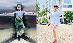 Con gái Xuân Lan mới 8 tuổi đã tạo dáng cool ngầu không thua gì mẹ, hứa hẹn trở thành siêu mẫu tương lai