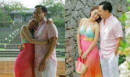 Bà xã kém tuổi của Chi Bảo diện đầm dây gợi cảm khoe loạt ảnh ngọt ngào bên chồng