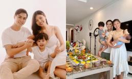 Chúng Huyền Thanh cùng Jay Quân làm đầy tháng cho nhóc tỳ thứ 2 vừa chào đời, vóc dáng 'mẹ bỉm sữa' gây chú ý