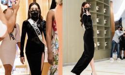 Hoa hậu Khánh Vân diện đầm dạ hội ở ngày thứ 6, trước bán kết Miss Universe
