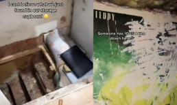 Di chuyển đồ đạc: Cô gái phát hiện điều 'rùng rợn' phía dưới tủ đựng đồ