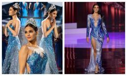Đại diện Thái Lan bị mỉa mai vì sao chép mẫu đầm dạ hội và cách catwalk của hoa hậu Catriona Gray