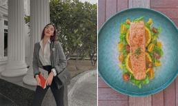 Lan Khuê bật mí cách làm món cá hồi sốt cam vừa ngon lại đẹp như nhà hàng