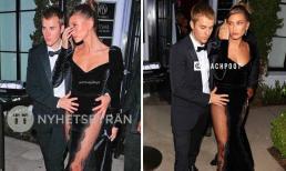 Hailey mặc đồ xuyên thấu táo bạo bảo sao Justin Bieber hai tay phải giữ khư khư lấy vợ