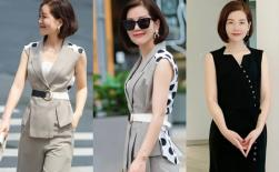 Đây là kiểu váy hè phổ biến của phụ nữ tuổi 40. Hợp thời trang, tân tiến, không lỗi mốt và phù hợp với lứa tuổi
