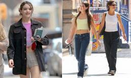 Mới 15 tuổi nhưng Suri Cruise đã sở hữu vóc dáng nổi bật, cao gần bằng mẹ Katie Holmes