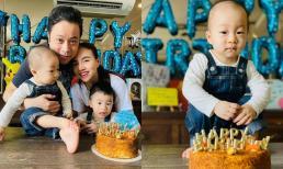 Đinh Ngọc Diệp và ông xã Victor Vũ tự tay trang trí sinh nhật cho con trai thứ 2 tròn 1 tuổi giữa mùa dịch