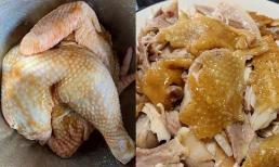 Gà nướng muối bằng nồi cơm điện, da vàng óng, thịt thơm mềm, ngọt lịm