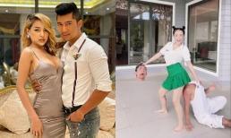 Chưa lấy lại thiện cảm bao lâu, Lương Bằng Quang và Ngân 98 lại gây tranh cãi vì đoạn clip bắt trend hệt phim kinh dị