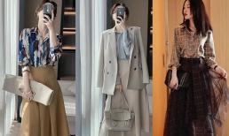 Đầu thu, tôi chọn những bộ trang phục nữ tính, thật thanh lịch và nhẹ nhàng, không chút oi bức