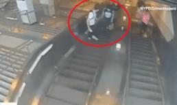 Gã trai vũ phu đá 'bay' cô gái trẻ từ thang cuốn xuống đất gây bức xúc