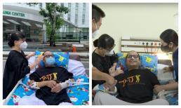 Sau hơn 1 tháng bị đột quỵ, NS Trần Mạnh Tuấn rời phòng ICU ra ngoài tắm nắng và bật khóc khi gặp bạn thân Trịnh Vĩnh Trinh