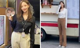 Học cách lên đồ kéo dài chân đơn giản nhưng hiệu quả không ngờ giống 'Thư ký Kim' Park Min Young