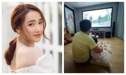 Trường Giang ôm con gái rượu ngồi xem Running man Việt Nam mùa 2, Nhã Phương ngậm ngùi làm phó nháy