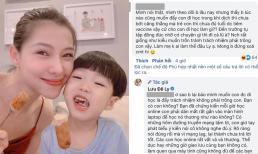 Lưu Đê Ly 'sửng cồ' đáp trả khi bị chỉ trích chỉ muốn đuổi con đi học để trốn tránh trách nhiệm